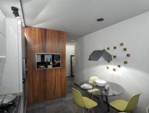 деревянная панель в кухне