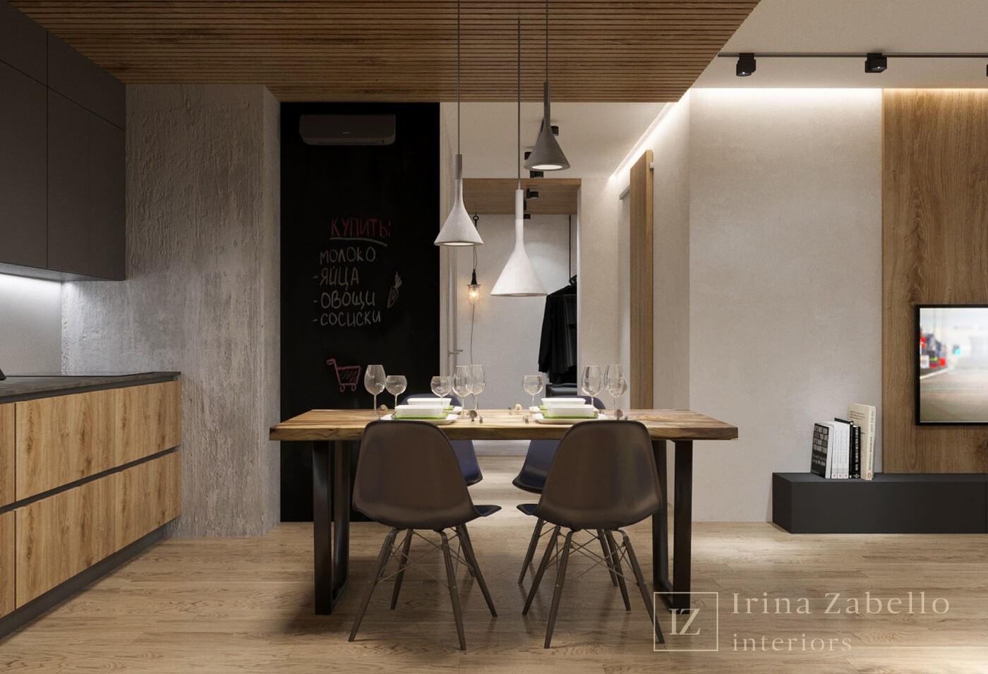 планировка кухни-гостиной